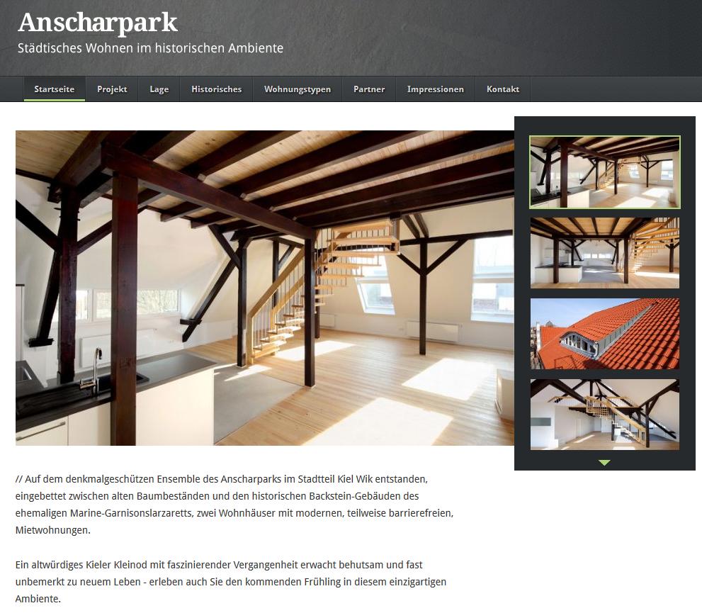 Projektseite Anscharpark, Kiel-WIK🌐🏞